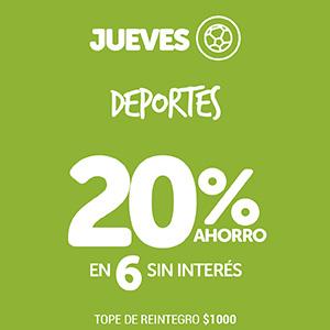 Jueves 20% Deportes