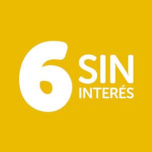 6 Cuotas sin interés